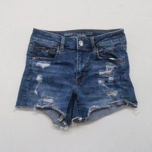 American Eagle Women's 4 Ripped High Rise Shortie